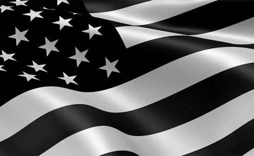 Black and White American Flag Newcastle United